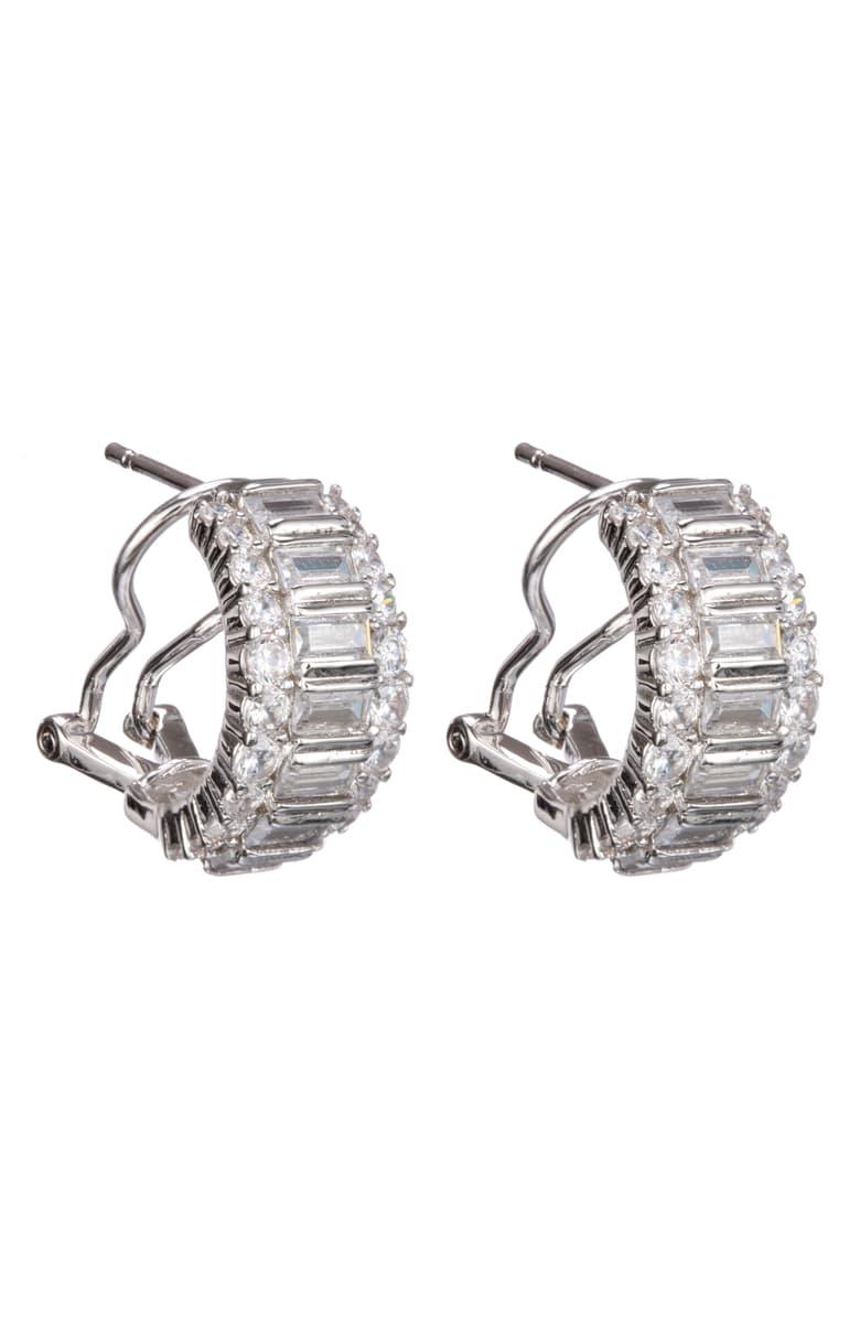 Mia Diamonds Titanium Polished with Cubic-Zirconia CZ Post Earringss