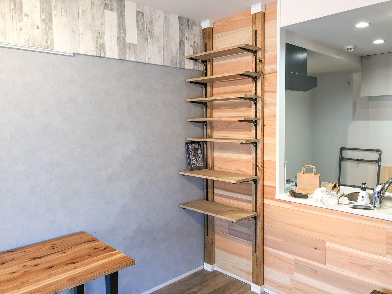 賃貸diy ディアウォールで壁面に可動式の本棚を作る ディアウォール