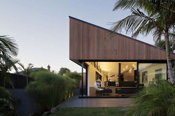 Modern Architecture New Zealand modern family home surroundednature in mount eden, new zealand