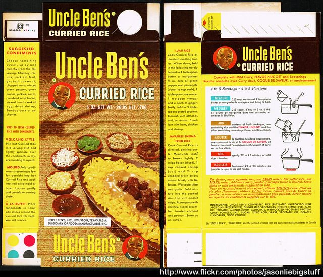 A classic Uncle Ben's Rice box.