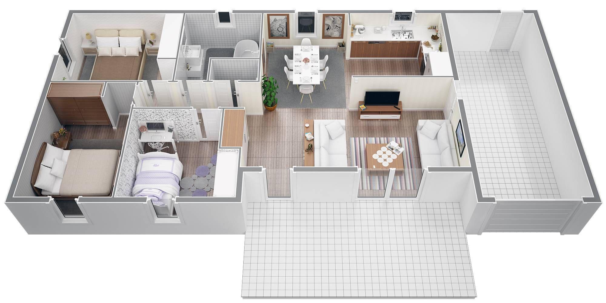 Plan Maison Plain Pied 80m2 Plan Maison Plan Maison 90m2 Plan Maison Plain Pied