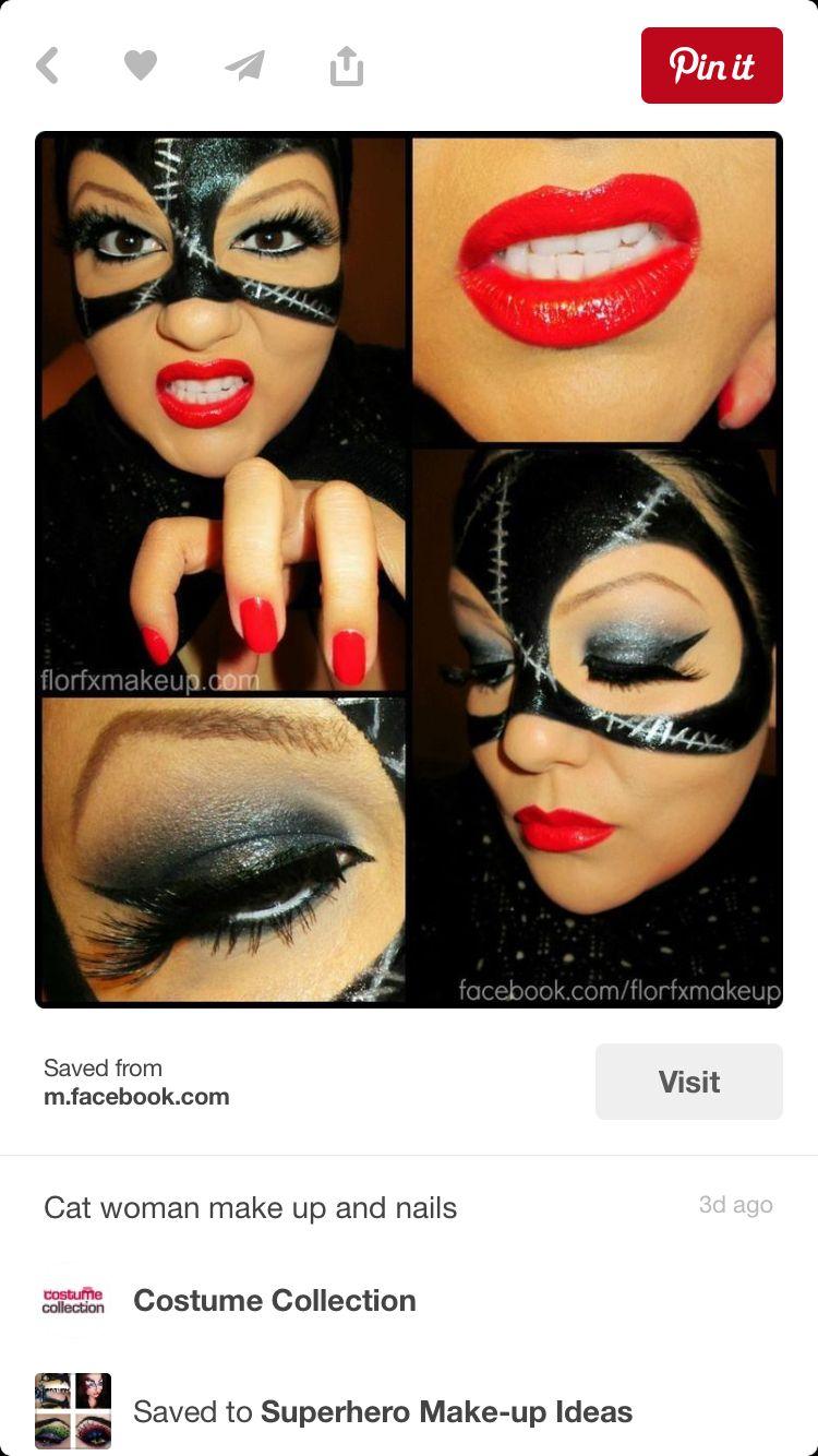Cat woman costume makeup