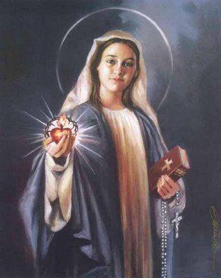 Consagración Al Inmaculado Corazón De María Preparación De 33 Días Revelada Por La Virgen En Medjugorje Arte Virgen María Inmaculada Santísima Virgen María