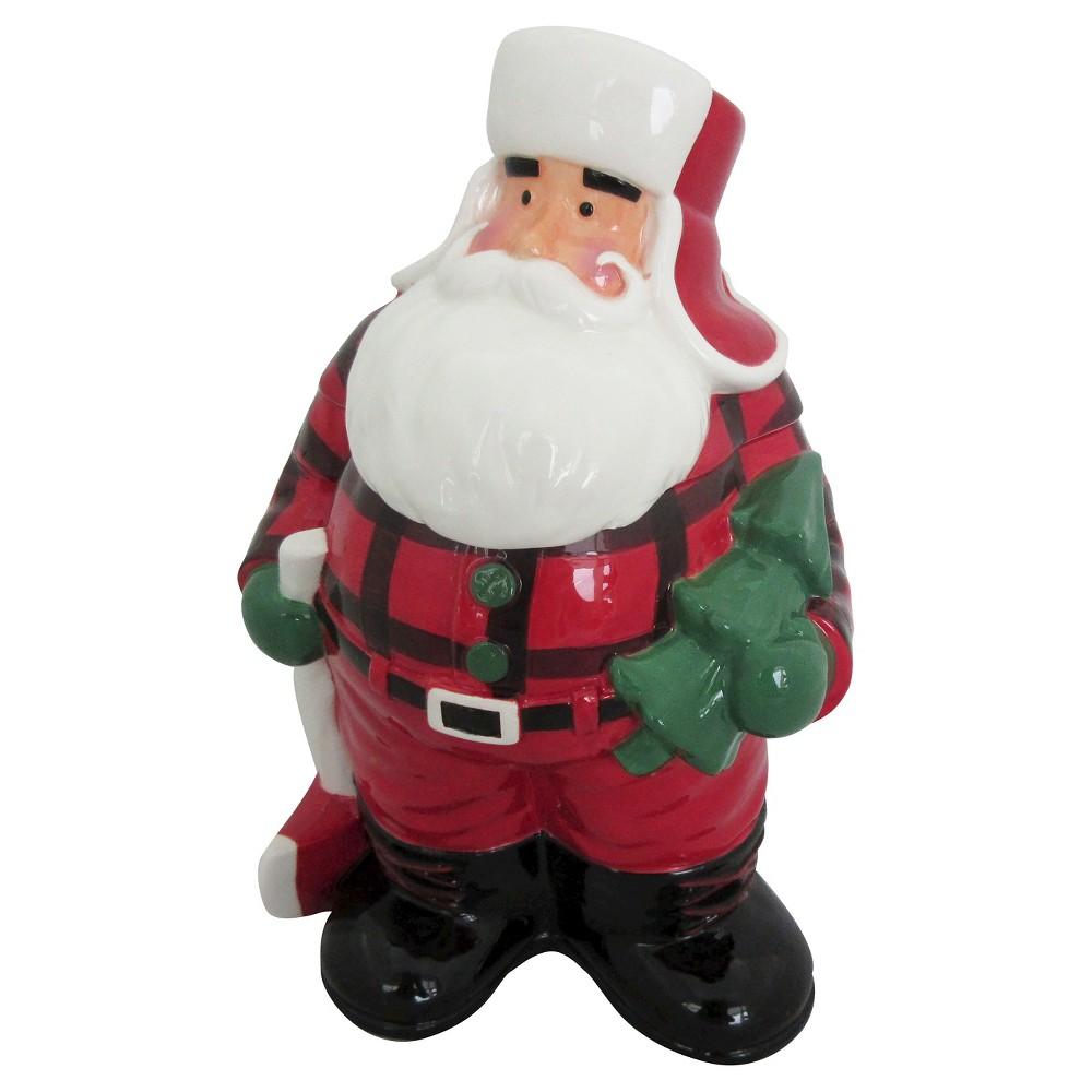 Santa Cookie Jar - Threshold, Red