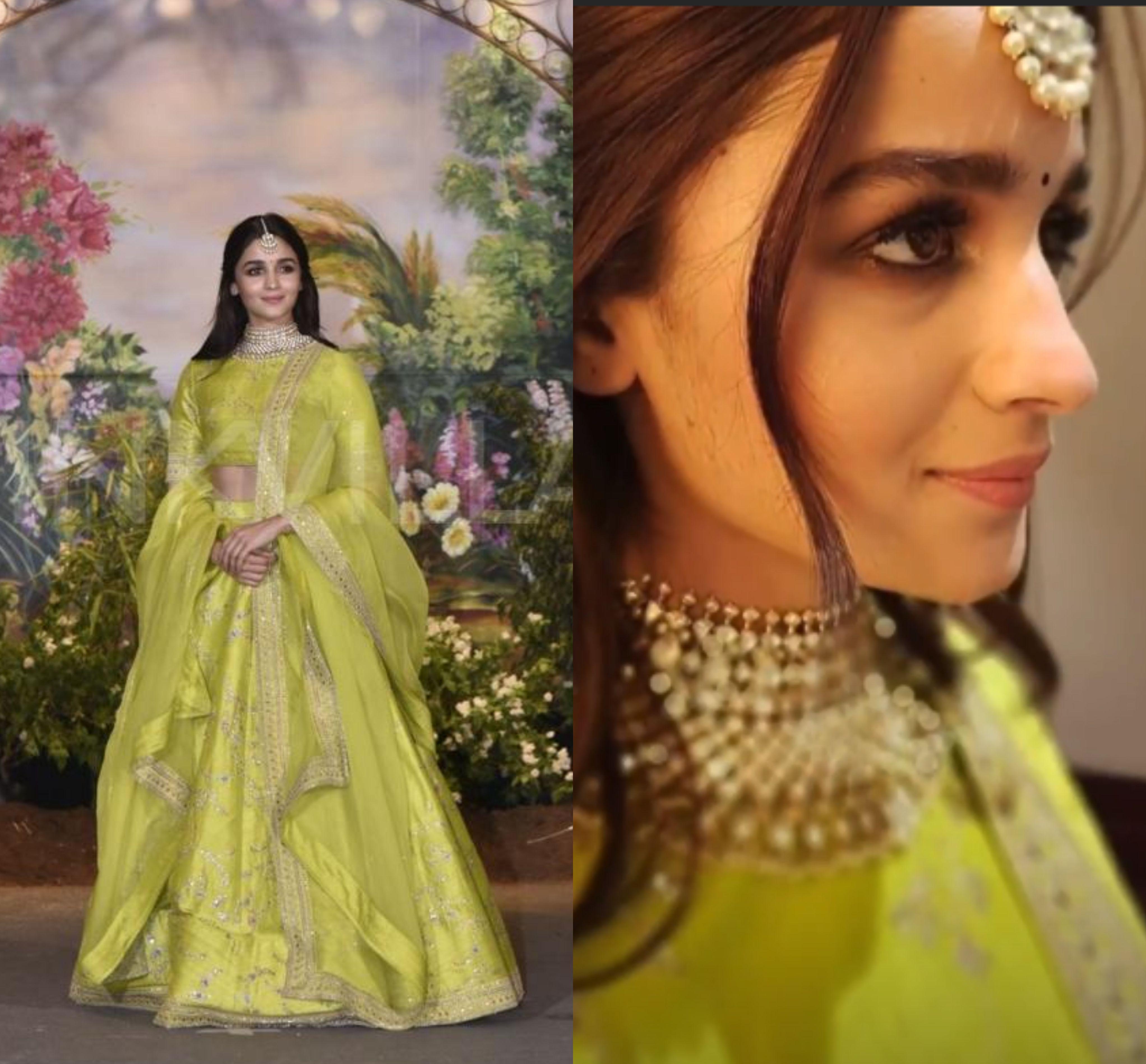 Alia Bhatt looked beautiful in a lime green Sabyasachi ...