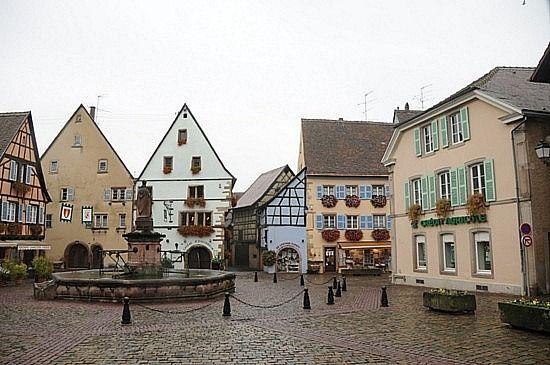 Belle's little town inspire  - Alsace Square, France