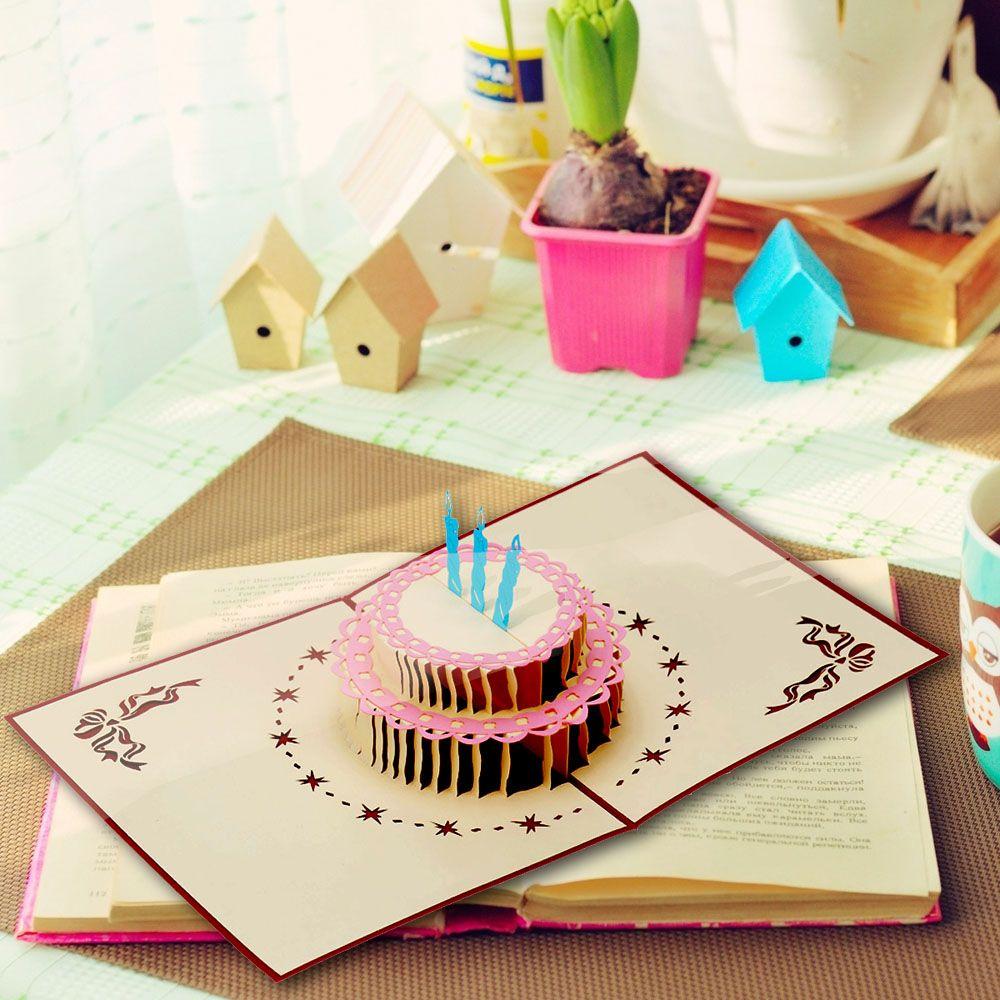 Handmade 3D Pop Up Birthday Card Kirigami Hollow Folding ...
