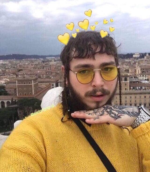 Post Malone Bangs: We Love A Sunshine Posty ☀️ 🌻💛