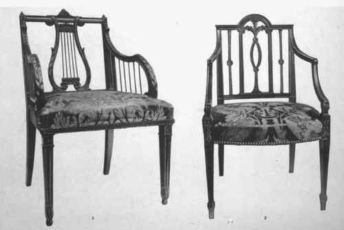 Two Sheraton Chair Including One With The Popular Lyre Back