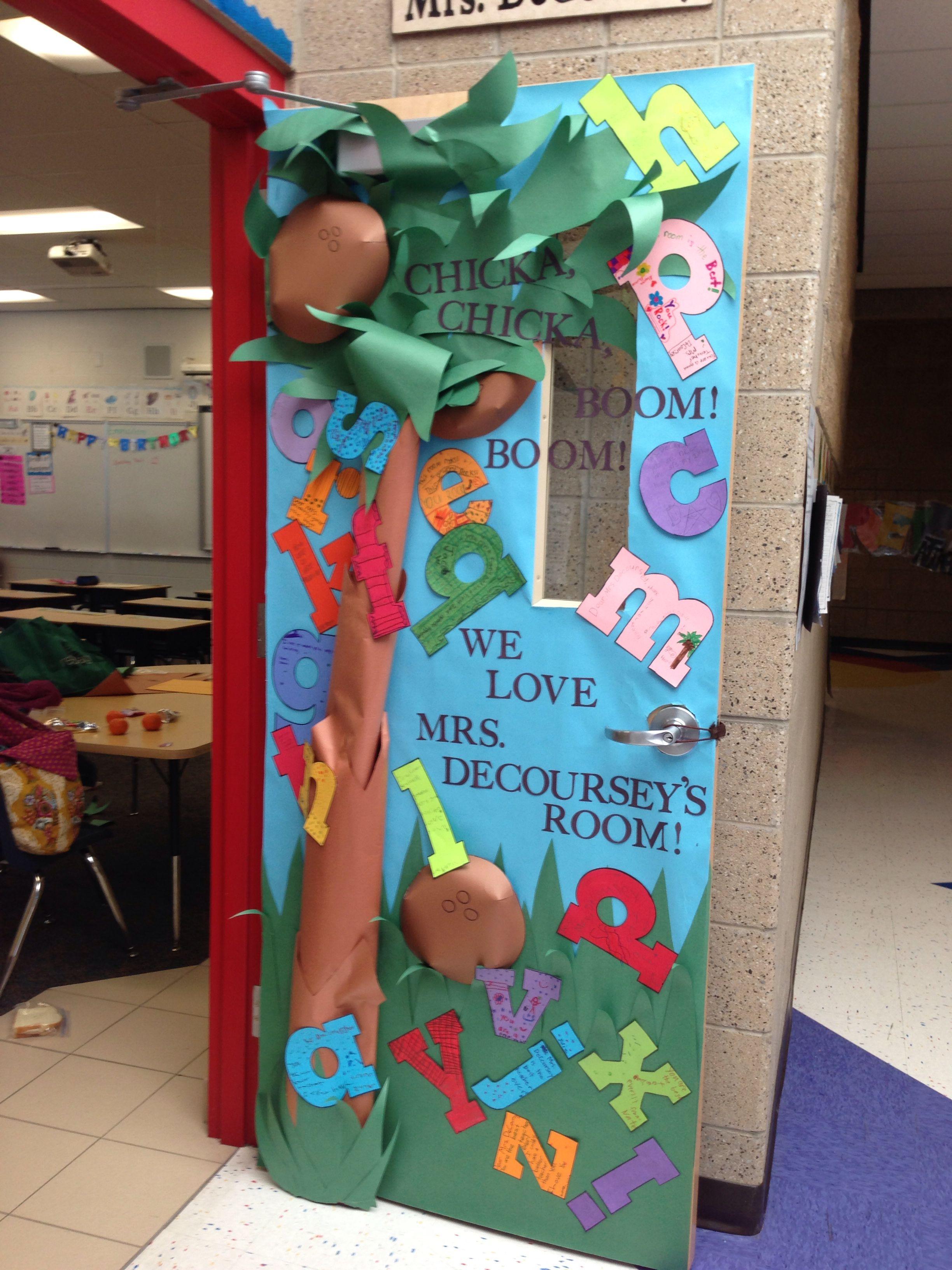 Chicka chicka boom boom teacher appreciation door idea. | Kids Kids ...