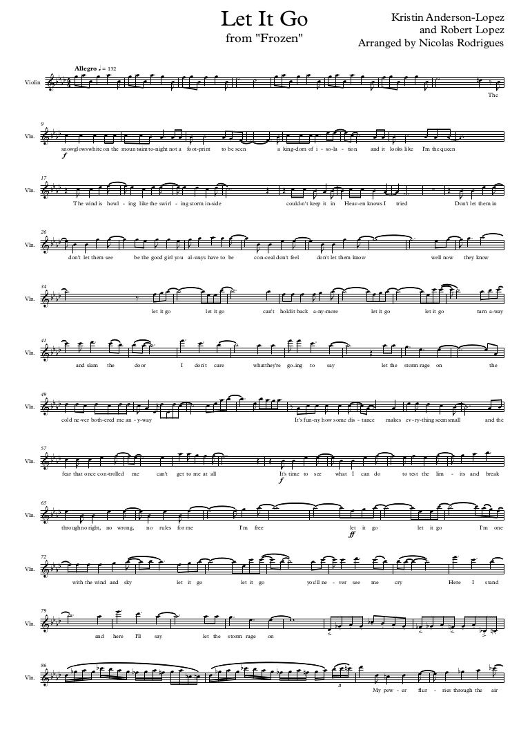 Let It Go Violin Sheet Music Tutorial - 1000 images about music notes on pinterest let it go ...