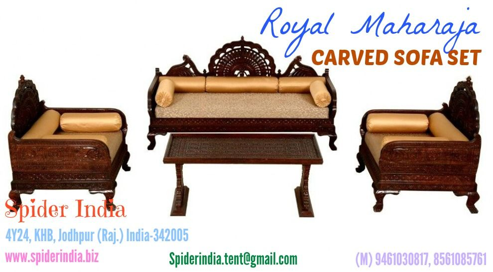 Carved Sofa Set Carved Furniture Spider India Traditional Furniture Sofas Wooden Sofa Designs Carved Sofa Wooden Sofa Set Designs