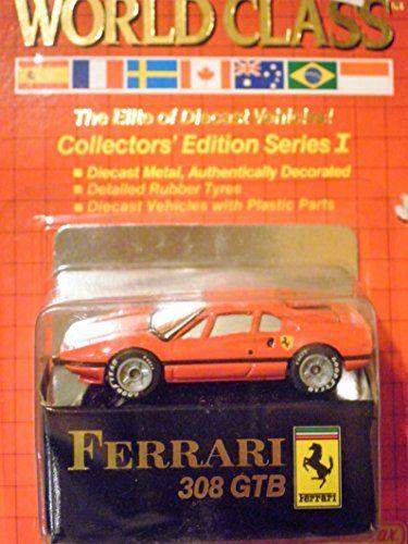 Ferrari 308 Gtb Red Matchbox World Class Red Card Collector S Edition Series 1 7 Matchbox Ferrari Rubber Tires