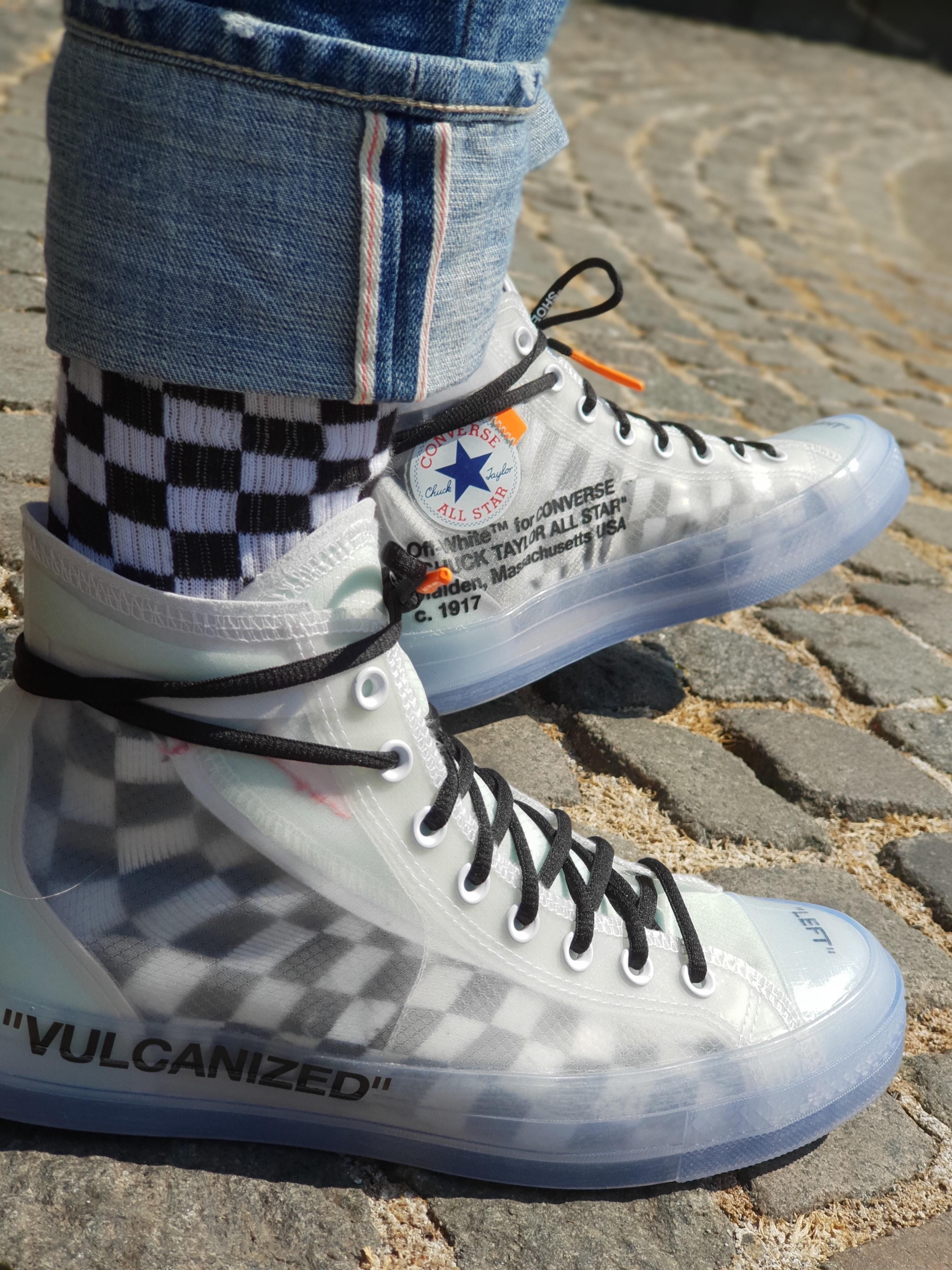 Socks Matter Converse X Off White Hype Shoes Sneakers Fashion Cute Shoes