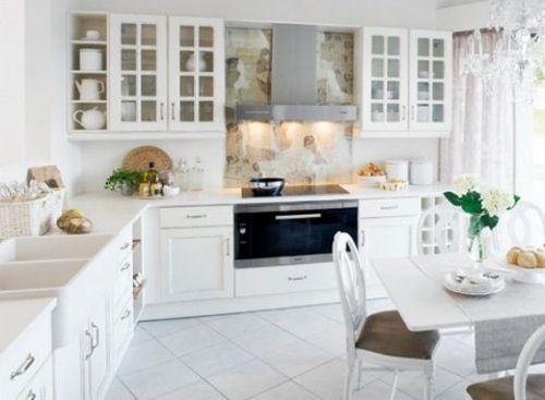 cocina-decorada-en-color-blanco   La casa de mis sueños   Pinterest ...