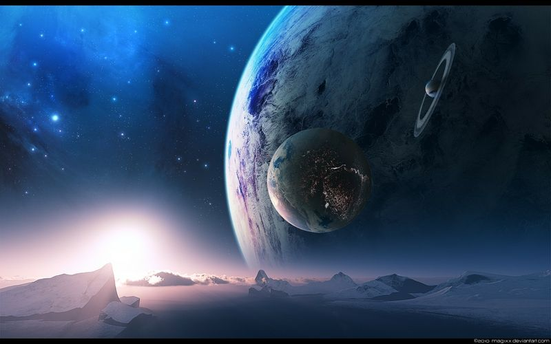 Alien Landscapes Planets | space stars planets rings ...