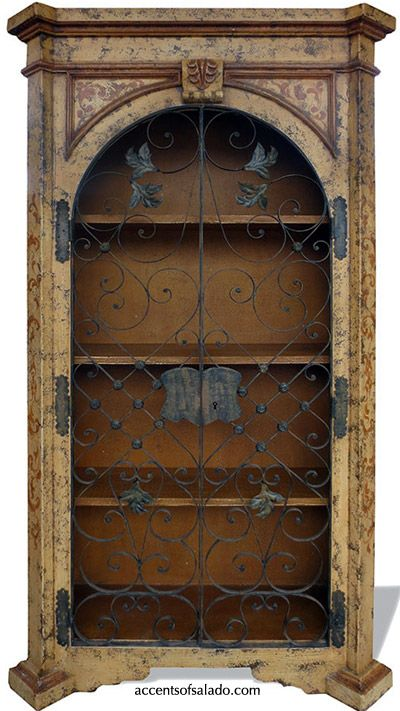 Cabo Tall Iron Door Cabinet   NEW FINISH   Distressed ...