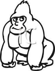 cute gorilla clipart - Google Search | Gorilla Decorations ...