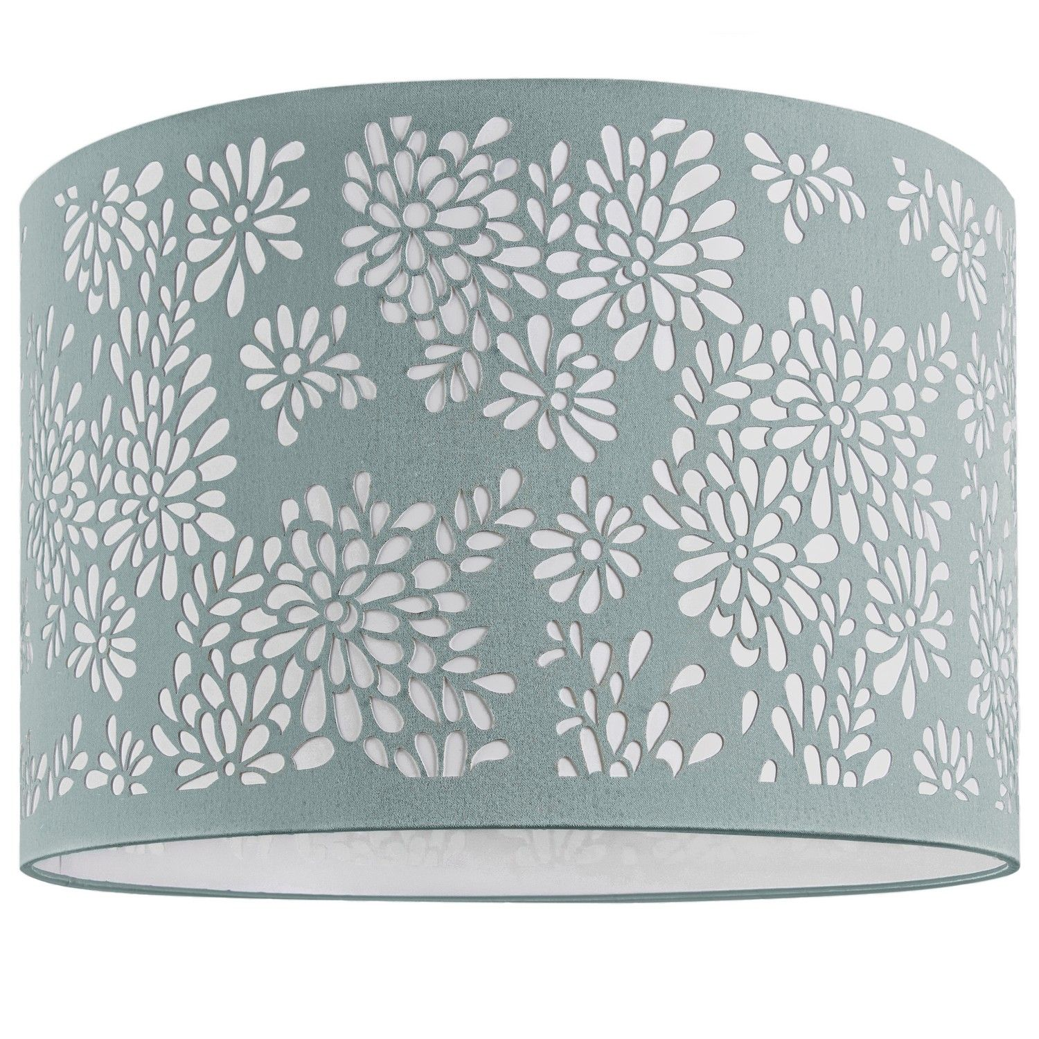 This light and lively laser cut ivory lampshade is a fresh new for a floor lamp floral laser cut lamp shade duck egg blue mozeypictures Image collections
