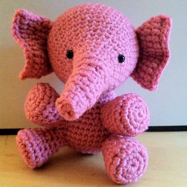 Free Pattern by Red Heart (Baby's Elephant) I modified the