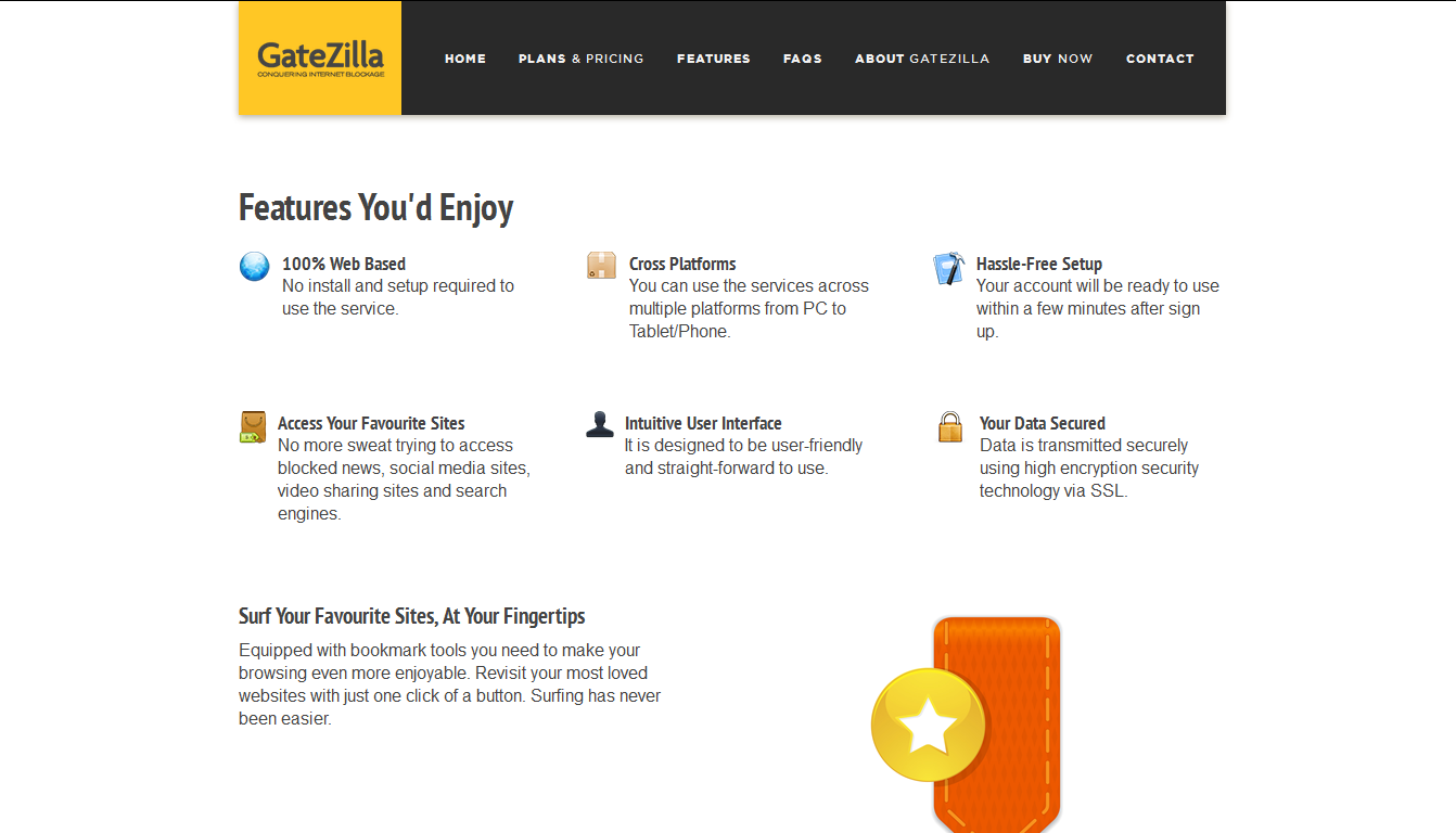 GateZilla is a free SSL proxy site to help you browse the web