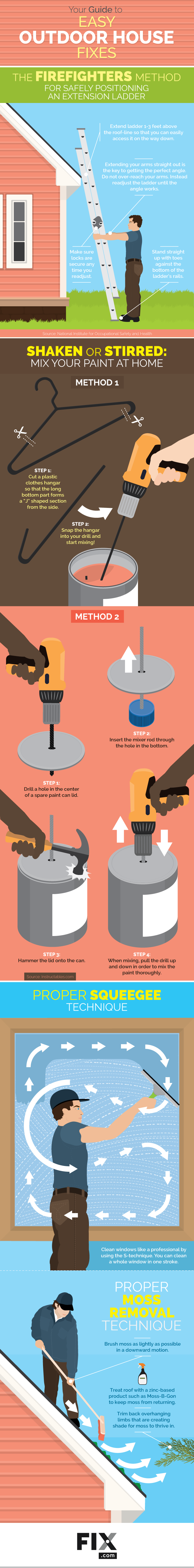 Your Guide to Easy Outdoor House Fixes #infographic