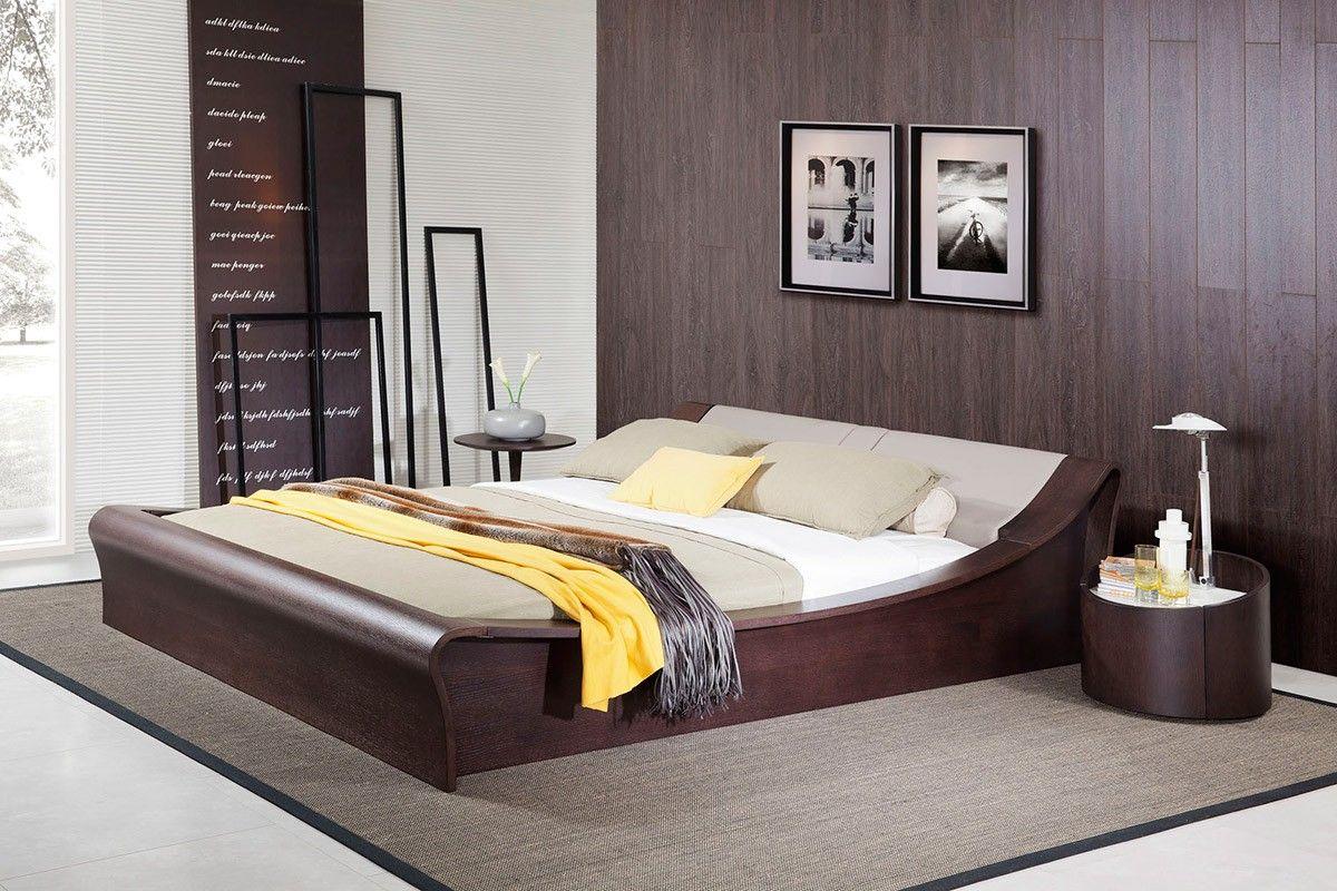 Modrest geneva contemporary brown oak u grey bedroom set modern
