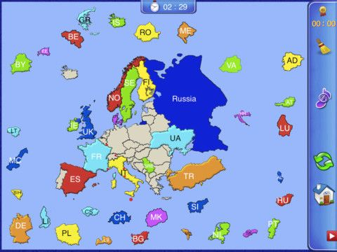 Europe puzzle map 399 europe puzzle map game will help you to europe puzzle map 399 europe puzzle map game will help you to learn country gumiabroncs Choice Image