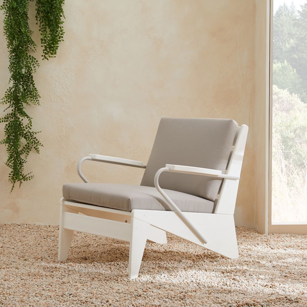 Modern Adirondack Lounge Chair Gray Decor Lounge Chair