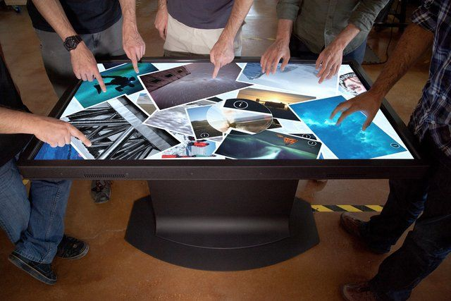 """The Platform is a ruggedized 55"""" Active 3D LED LCD HD touch table that comes with a powerful integrated PC with an i7 quad core, built-in RFID, and support for 32+ touch points."""