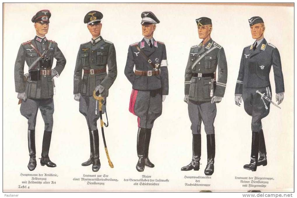 from left to right german wehrmacht officers casual