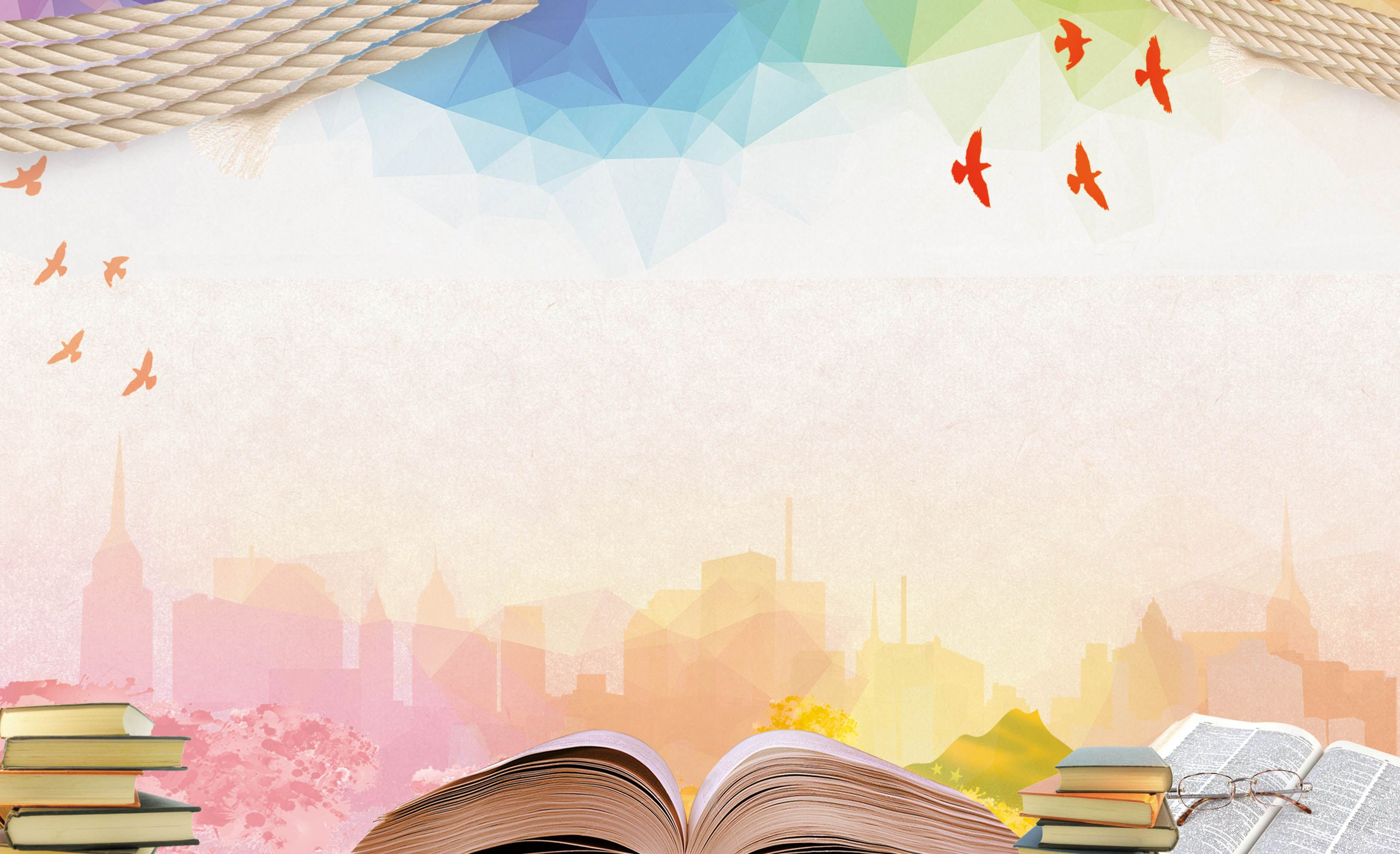 Book Knowledge Education Poster Background Material Powerpoint