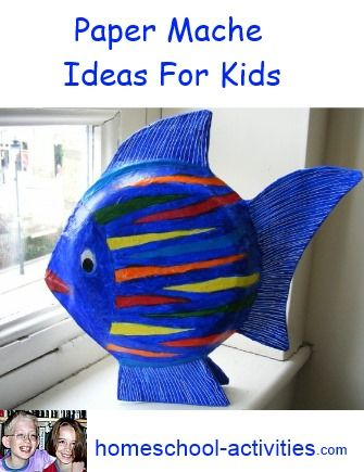 Easy paper mache fish ornaments using paper plates fun to for Paper mache activities