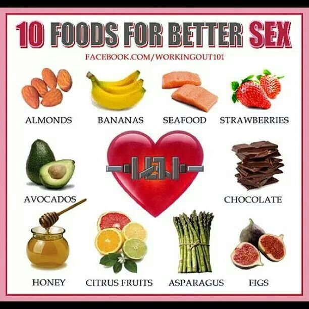 Foods for healthy sex can