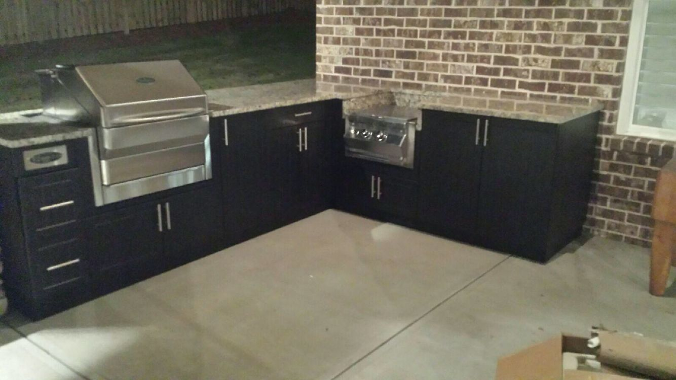 Outdoor Kitchen With Pellet Smoker