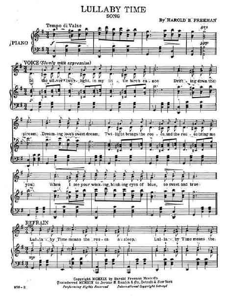 Lullaby Time sheet music | Business | Music, Sheet music