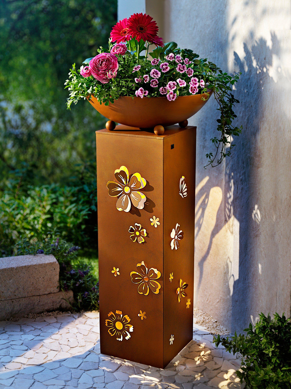 Pflanzsaule Butterfly Mit Led Beleuchtung Bestellen Weltbild De Led Beleuchtung Pflanzsaule Metall Gartenskulpturen