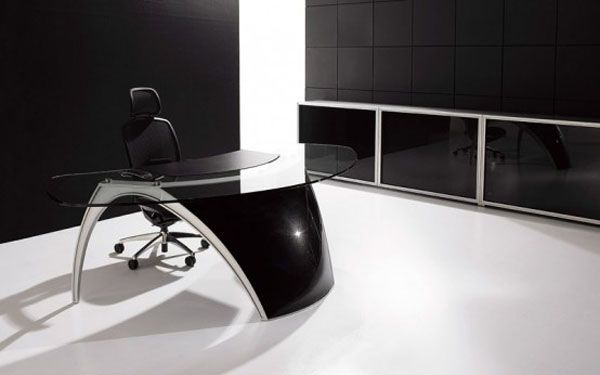 futuristic office table luna by uffix 2 42 Gorgeous Desk Designs for ...