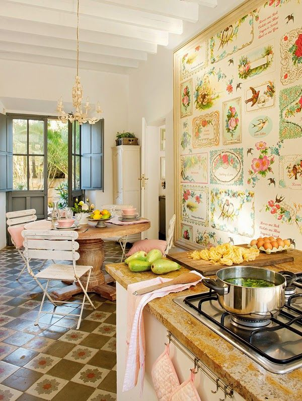 Romantic Country Kitchen Decor a romantic country house with classic style. | granny/cottage chic