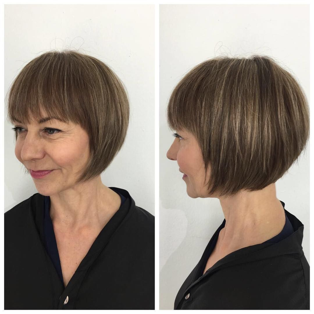 How To Hairstyle Tutorial Short Rounded Classic Bob With Fringe