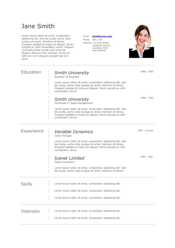 Curriculum vitae, Curriculum vitae template, Business
