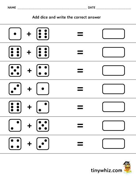 Free Printable Math Worksheet Add Dice Math Worksheets Printable Math Worksheets Free Printable Math Worksheets