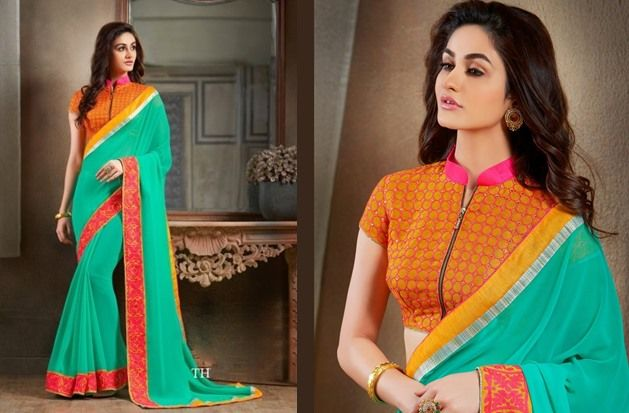 15 Stunning Collar Neck Blouse Designs For All Seasons Saree