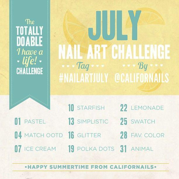 Playful Polishes June Nail Art Challenge Ocean Nails: Love Pretty Colours: July Nail Art