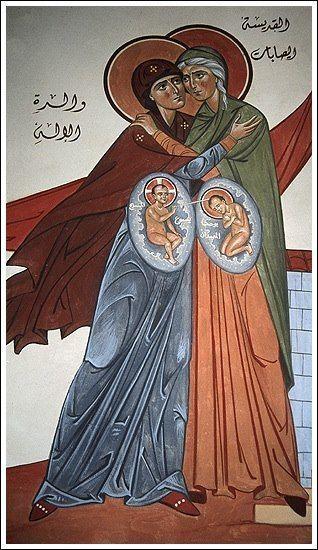 Afbeeldingsresultaat voor Meeting of Elizabeth and the Theotokos