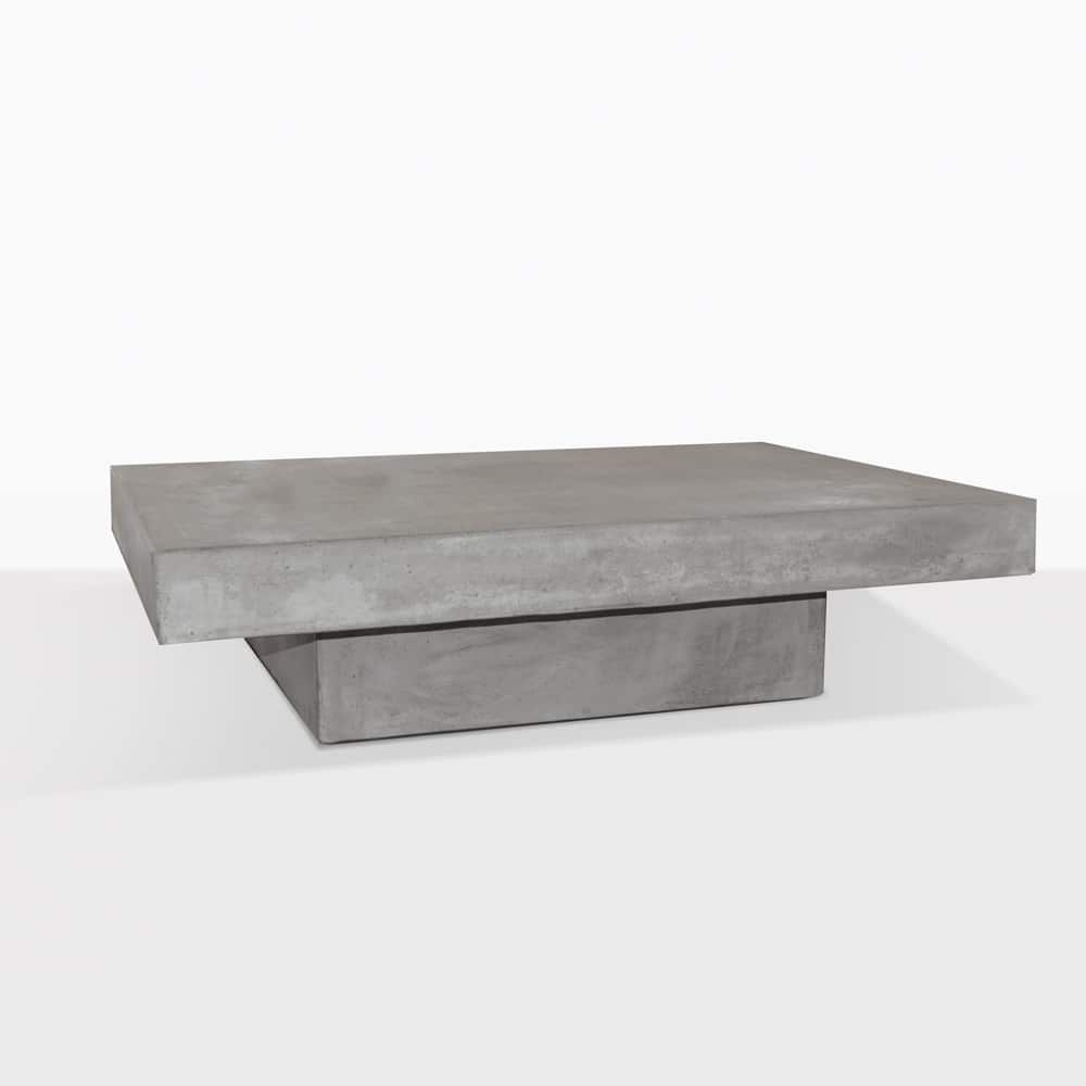 Square Concrete Coffee Table Perfect For Indoors Or Out A
