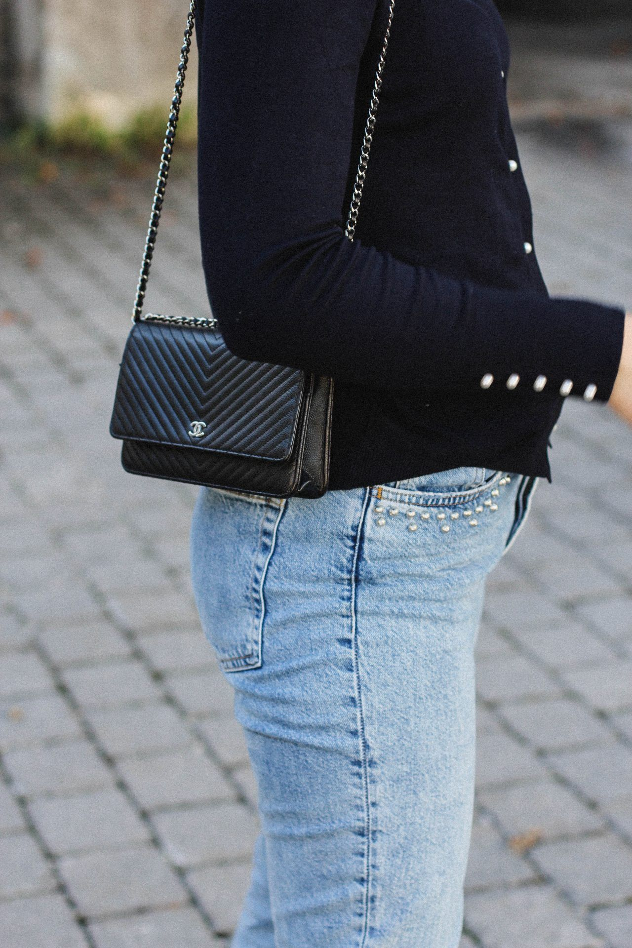 """tifmys – Jacket  Zara   Jeans and pumps  H M   Bag  Chanel Wallet on Chain """" WOC"""" d605323b735"""