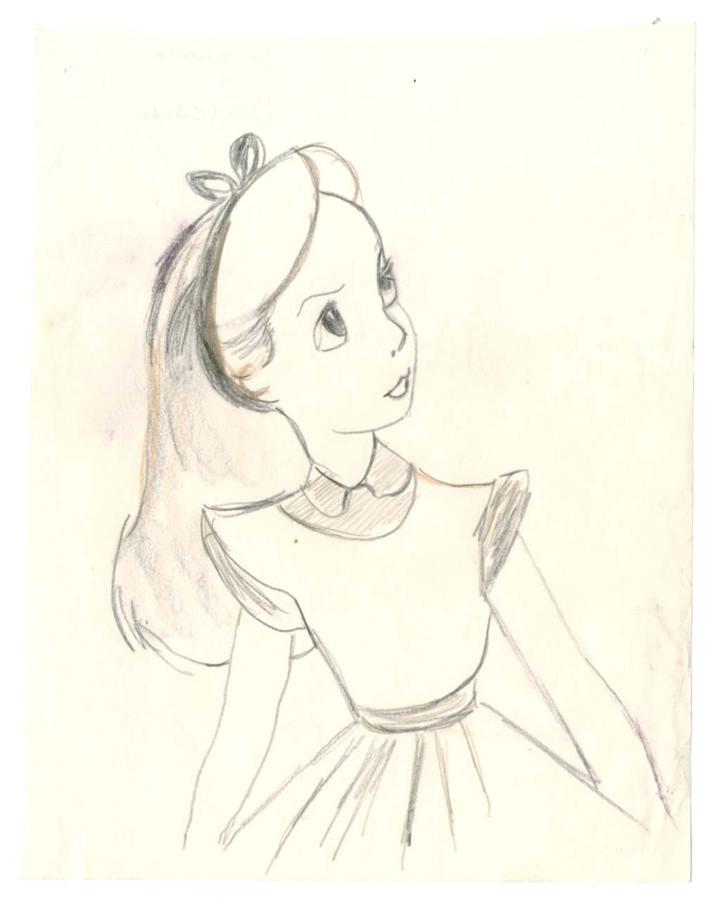 Alice Character Study Sketch Disney Character Drawings Disney