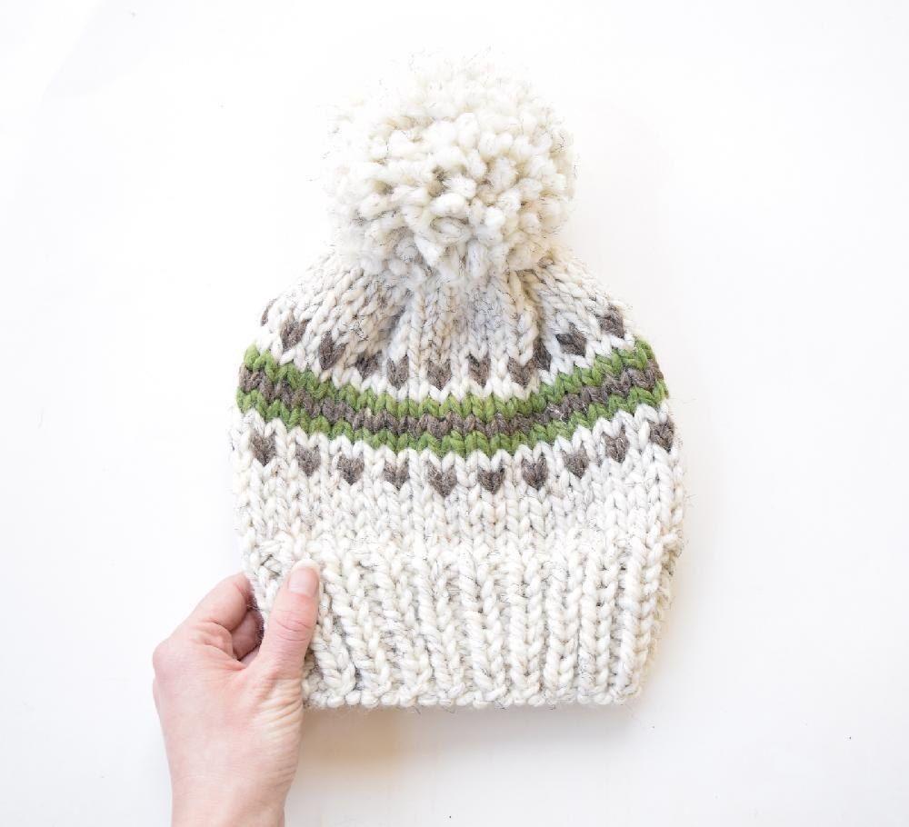 The Juneau Fair Isle Hat   Fair Isle Knitting Patterns   Pinterest ...