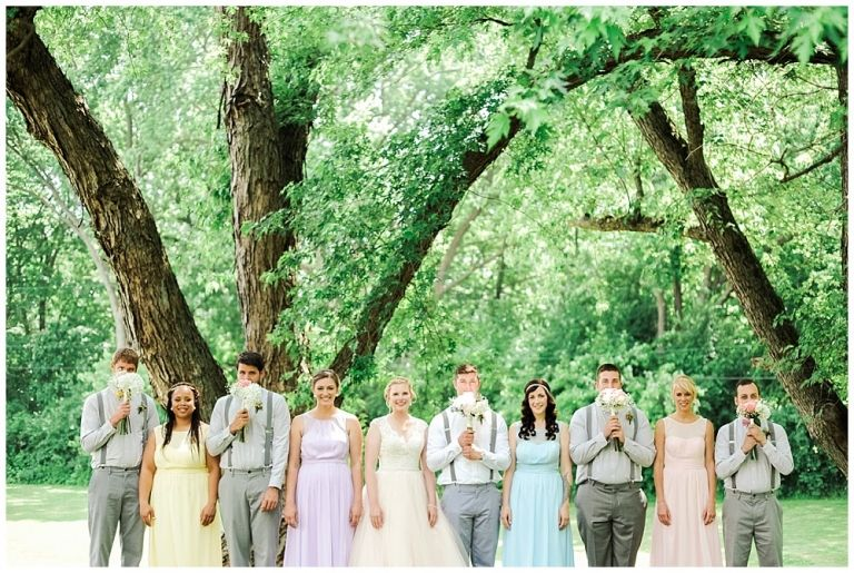 Tamara Jaros Photography 2016 DIY Rustic Barn Wedding Pastel Pink, Grey, Purple, Blue, Green Bridal Party Portraits